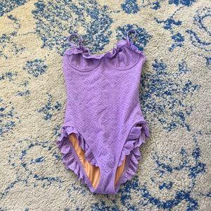 Michael Kors ruffle one piece swimsuit small